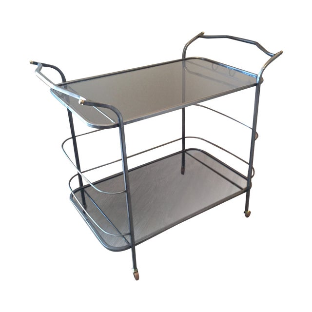 Image of Vintage Hand-Wrought Iron Bar Cart