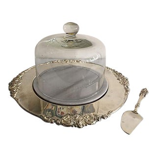 Silver & Carrara Cheese Plate Dome