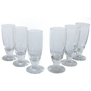 Etched Highball Glasses - Set of 6