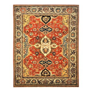 "Vintage Turkish Fine Oushak Wool Area Rug - 7'10"" X 9'10"""
