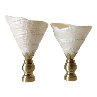 Fiji Shell Finials - Pair
