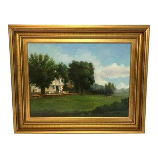 Vintage Pastoral Scene Oil Painting