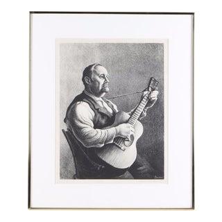 "Thomas Hart Benton Lithograph ""The Hymn Singer"""