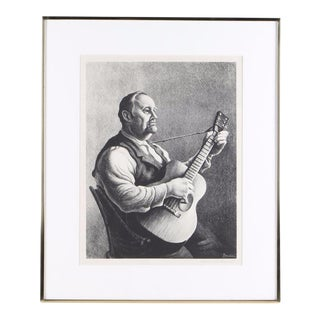 "Thomas Hart Benton Lithograph ""The Hymn Singer"""