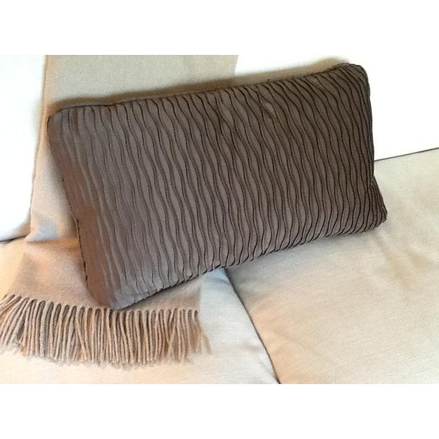 Image of Brown Wave Lumbar Pillow