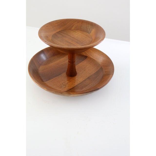 Mid-Century Tiered Walnut Tray - Image 6 of 6