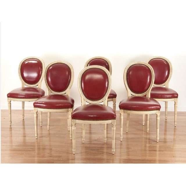 Louis XVI Painted Dining Chairs - Set of 6 - Image 2 of 5