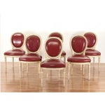 Image of Louis XVI Painted Dining Chairs - Set of 6