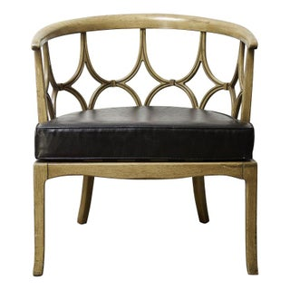 Vintage Hollywood Regency Barrel Chair