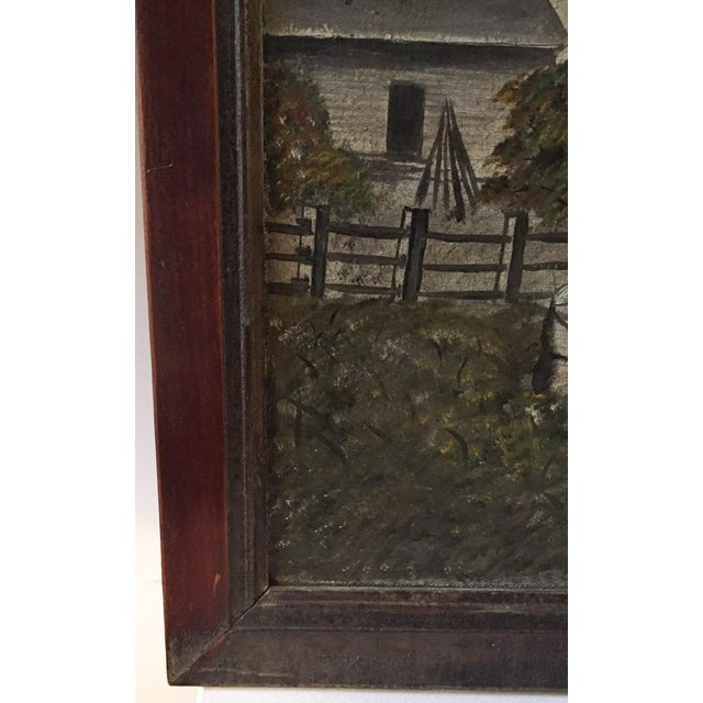 19th Century Folk Art Oil on Canvas Painting - Image 6 of 7