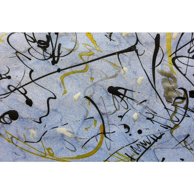 """""""Galaxy One"""" Abstract Ink on Paper - Image 3 of 3"""