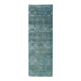 """Vibrance Hand Knotted Runner Rug - 3' 0"""" X 9' 1"""""""