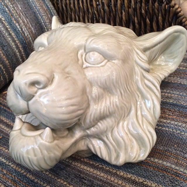 Fitz Amp Floyd Glazed Lion Head Planter Chairish