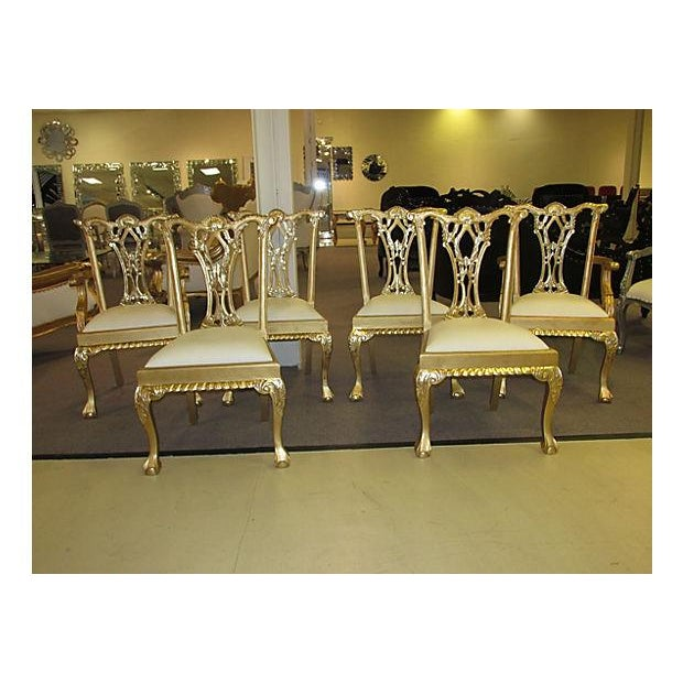 Gold Dinning Chairs - Set of 6 - Image 2 of 6