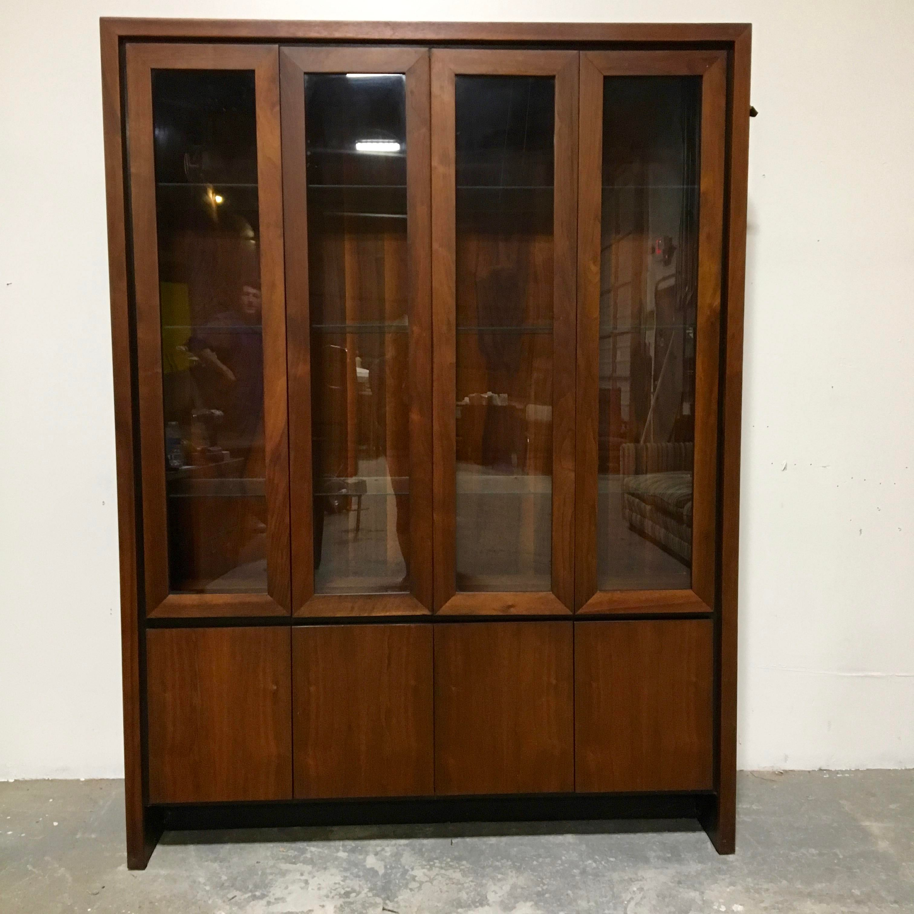 image of maurice villency danish modern china cabinet