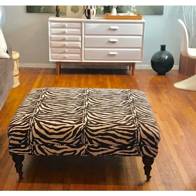 Zebra Ottoman Coffee Table - Image 3 of 4