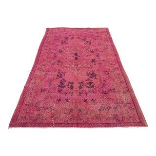 Antique Pink Overdyed Oushak Rug - 5′1″ × 8′8″
