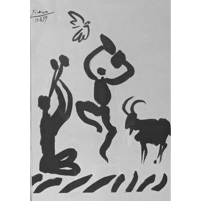"1959 Picasso Lithograph ""Goat Dance"" - Image 2 of 5"