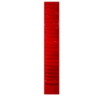 1960s Vintage Extra Long Glossy Red File Holder