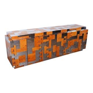 Large Cityscape Cabinet Designed by Paul Evans