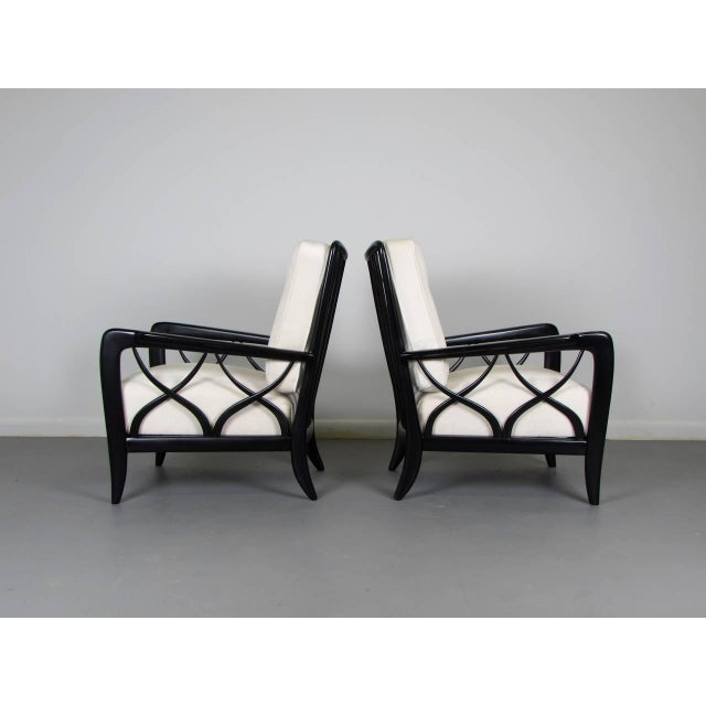 1950s Paolo Buffa Style Lacquered Italian Lounge Chairs - A Pair - Image 6 of 8