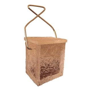 "1960's Wilardy Lucite ""Block of Ice"" Ice Bucket"