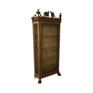 Antique 19th Century Russian Neo Classical Style Italian Gilt Vitrine Cabinet