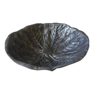 Pewter Cabbage Shaped Bowl