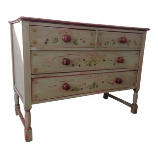 Green & Red Hand Painted Dresser