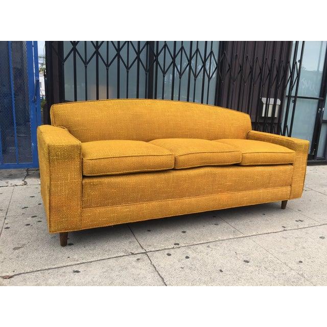 Image of Mid-Century Sofa in Mustard Tweed