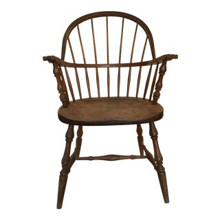 Antique Windsor Wooden Chair Unmarked