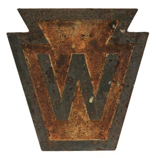 Antique Pennsylvania Railroad Whistle Sign