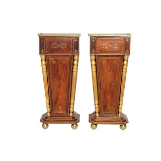 A PAIR OF ENGLISH REGENCY ROSEWOOD PEDESTALS
