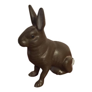 Antique Cast Iron Piggy Bank - Bunny Rabbit