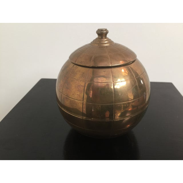 Vintage Brass Globe Cigarette Dispenser - Image 2 of 7