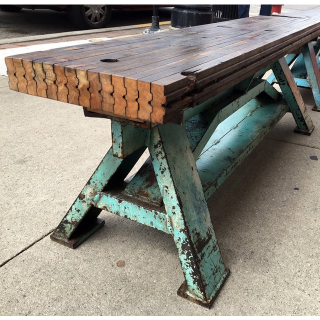 Reclaimed Wood Industrial-Inspired Bench - Image 2 of 6