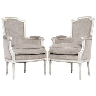 Antique French Louis XVI Bergères- A Pair