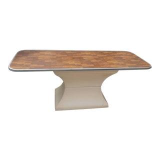 Mid-Century Food Furniture Fiberglass Pedestal Buffet Table