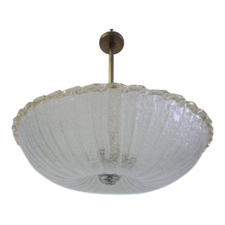 Large Handblown Murano Glass Chandelier by Barovier e Toso