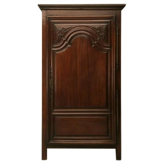 Exquisite 17th C. Hand-Carved French Louis XIV Bonnetiere/Armoire