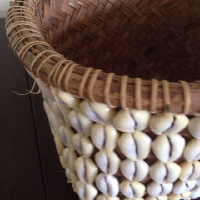 Vintage Woven Shell Basket - Image 7 of 11