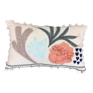 Pop Pop & Appliqued Lumbar Pillow