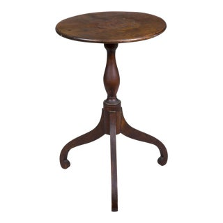 Maple Candlestand in Old Surface with Baluster & Scroll Feet