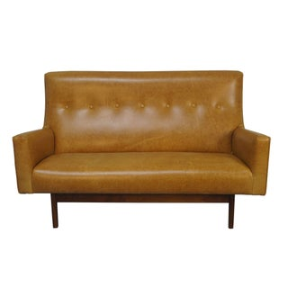 Jens Risom Leather Settee for Risom Design