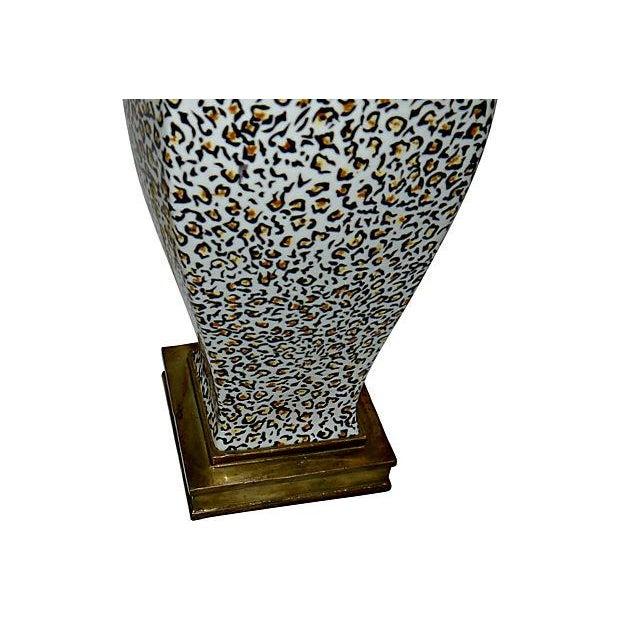 Image of Castilian Porcelain Leopard Print Lamp