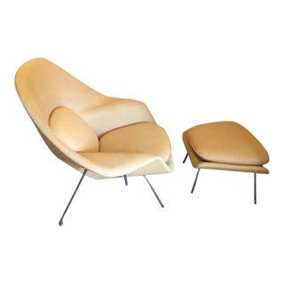 Saarinen's Iconic Womb Chair & Ottoman