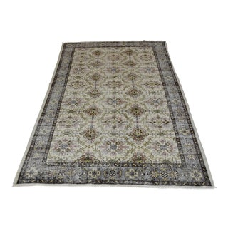 Vintage Ushak Tribal Hand-Knotted Muted Oriental Rug - 5′11″ × 9′