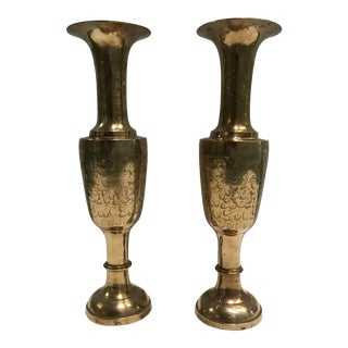 Oversized Brass Vases- A Pair