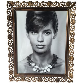 Antique Gilt Filigree Photo Frame