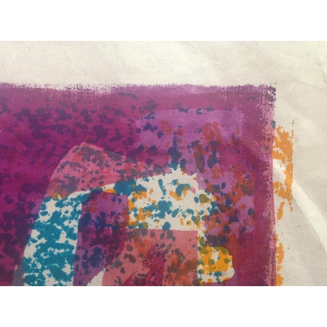 Mid-Century Abstract Silkscreen Estelle Siegelaub - Image 7 of 7